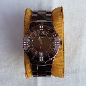 Guess Metallic Brown Wristband Watch